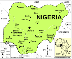 map of nigeria africa nigeria enchantedlearning com