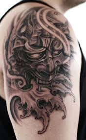cool oni mask tattoos for men newest tattoos 2017