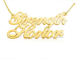 Gold Chain With Name Two Names Necklace Etsy