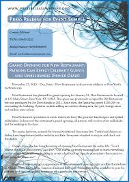 sample press release for event is to learn more about it press