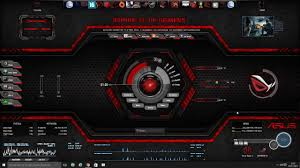 theme bureau windows thème asus rog rainmeter windows 10
