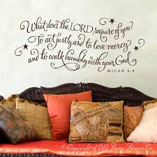 what does the lord require of you scripture quote wall graphic what does the lord require of you scripture quote wall graphic lettering calligraphy vinyl decal sticker old barn rescue