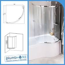 curved shower bath screen sliding glass p shape shower bath screen