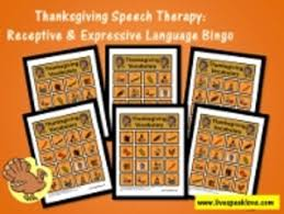 thanksgiving speech therapy activities receptive and expressive