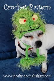 crochet pattern christmas grinch dog hat by poshpoochdesigns