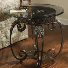 small wrought iron table small wrought iron table glass top l end gold side tables wood