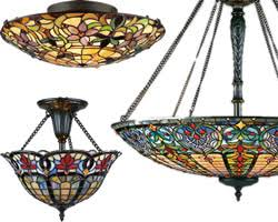 Stained Glass Ceiling Light Nouveau Ceiling Lights Brand Lighting Discount Lighting