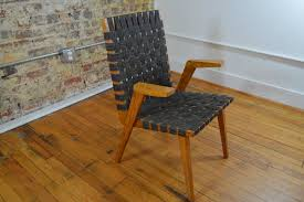 early mid century modern arm chair in the style of jens risom and