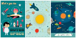 chambre theme espace selection de jolis posters pour chambre d enfant et bébé
