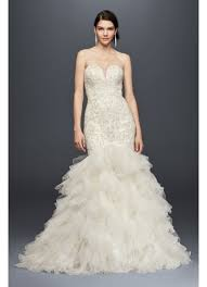 mermaid wedding dresses beaded mermaid wedding dress with tulle skirt david s bridal