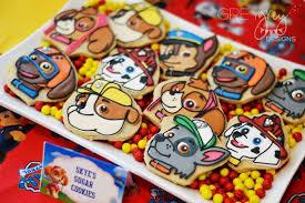 kara u0027s party ideas skye u0027s sugar cookies paw patrol birthday