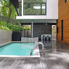 modern pool deck patio modern with recessed lights rotisserie