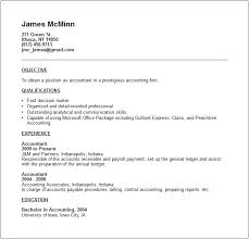 Example Format Of Resume by Accounting Resume Examples And Career Advice
