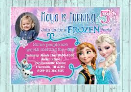custom birthday invitations personalized frozen birthday invitations reduxsquad