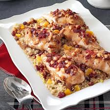 quinoa thanksgiving stuffing stuffed chicken with cranberry quinoa recipe taste of home