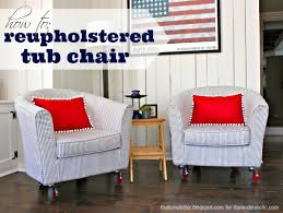 Recovering An Armchair Remodelaholic How To Reupholster A Tub Chair