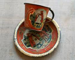 cool cups in the hood reserved for libsent victorian red riding hood child s tin litho