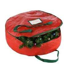 wreath storage bag for 24 30 inch wreaths as low as 9 98