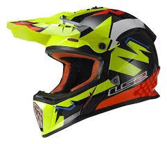 yellow motocross helmets ls2 fast explosive helmet revzilla