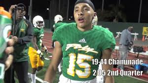 cif football long beach poly vs chaminade youtube