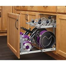 Kitchen Cabinet Slide Out Shelf Pots Pull Out Pot Hanger Inspirations Pull Out Pot Hanger Lowes