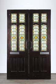 Antique Stained Glass Door by Set38 Victorian Stained Glass Double Doors Doors Pinterest