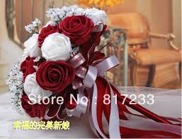 Red Wedding Bouquets Flowering Tree White Flowers Picture More Detailed Picture About