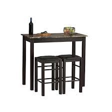 high bar table and chairs high bar table amazon com