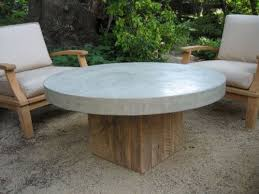 round concrete top coffee table inspiration for sunroom diy
