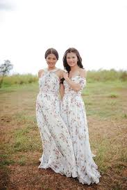 floral maxi bridesmaid dress picture of mix and match bridesmaid dresses with crispy