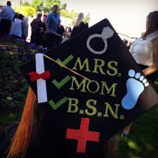 nursing graduation cap bsn rn graduation cap grad cap decoration mrs married