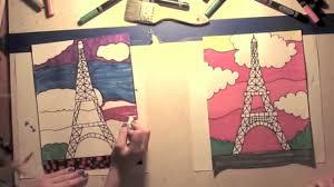 eiffel tower children u0027s art class youtube