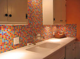 Colorful Kitchen Backsplashes Bijou Fiesta Blend Backsplash Kitchen Glass Mosaic Tiles Home