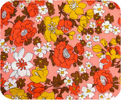 vintage 1950s lovely retro pink floral fabric michellepatterns