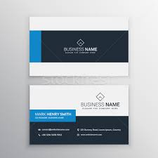 clean minimal business card template vector illustration star