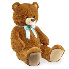 animal alley 42 inch stuffed bear with bow brown toys