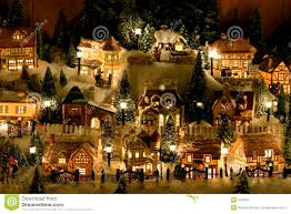 Miniature by Miniature Christmas Village Stock Images Image 342384