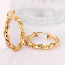 trendy gold earrings fashion earrings women trendy gold plated gold plated