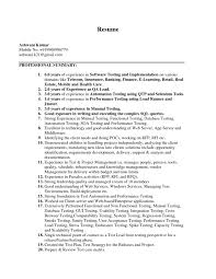 Sample Etl Testing Resume by Performance Testing Resume Samples Sample Performance Tester