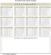 excel 2012 yearly calendar template calendar template