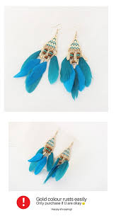 earrings malaysia p126572 skyblue feather bohemian hook earrings malaysia h0250