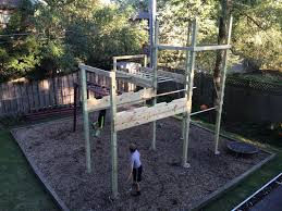 back yard ninja course