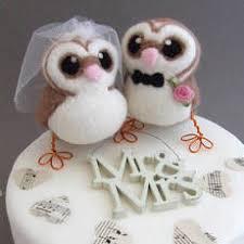 owl wedding cake topper and groom barn owl wedding cake topper