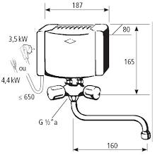 chauffe eau electrique cuisine chauffe eau électrique instantané clage m3 smb avec robinet
