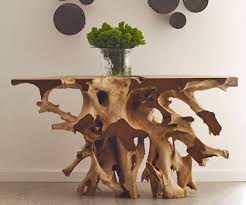natural wood console table solid wood console root console table hardwood console table