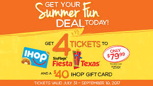Six Flags Coupon Ihop Serves Up The Perfect Summer Fun Deal With Fiesta Texas