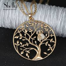 owl necklace rose gold images Owl pendant necklace jewelry accessory women fashion 2017 silver jpg