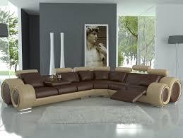 White Floor L Living Room Modern Living Room Design With Brown L Shaped