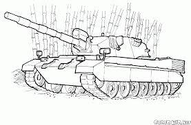 coloring page amphibious battle tank