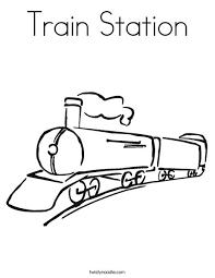 Coloring Page Train Station Murderthestout Rail Color Page